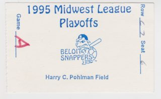 1995 MiLB Midwest League Playoffs Rockford Cubbies at Beloit Snappers ticket stub