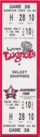 1996 Midwest League Beloit at Lansing ticket stub