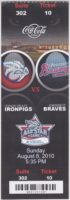 2010 MiLB International League Gwinnett Braves at Lehigh Valley Iron Pigs ticket stub