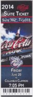 2014 MiLB International League Columbus Clippers at Lehigh Valley Iron Pigs ticket stub