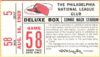 1969 MLB Astros at Phillies ticket stub