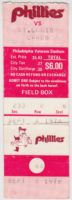 1978 MLB Cardinals at Phillies ticket stub