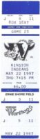 1997 MiLB Carolina League Indians at Warthogs ticket stub