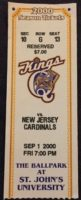 2000 MiLB NY-Penn League New Jersey Cardinals at Queens Kings ticket stub