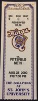 2000 MiLB NY-Penn League Pittsfield Mets at Queens Kings ticket stub