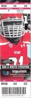 2014 NCAAF Utah State at Utah ticket stub