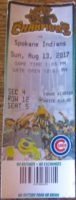 2017 MiLB Spokane Indians at Eugene Emeralds ticket stub