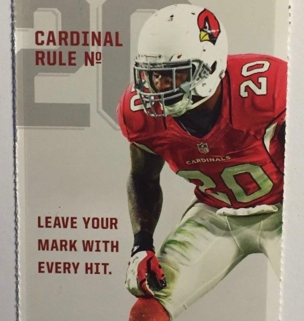 2017 NFL 49ers at Cardinals ticket stub