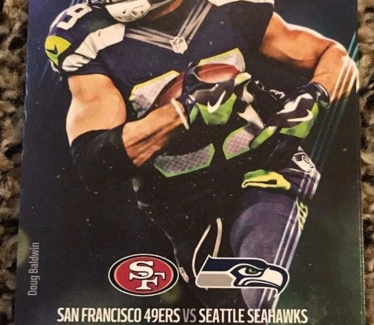 2017 NFL 49ers at Seahawks ticket stub