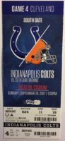2017 NFL Browns at Colts ticket stub