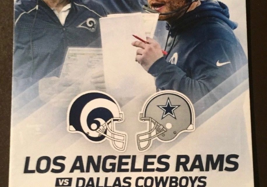 2017 NFL Cowboys at Rams ticket stub
