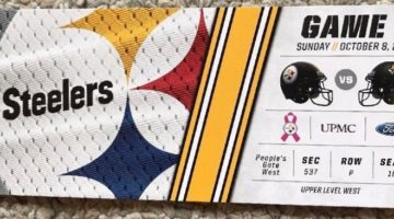 2017 NFL Jaguars at Steelers ticket stub