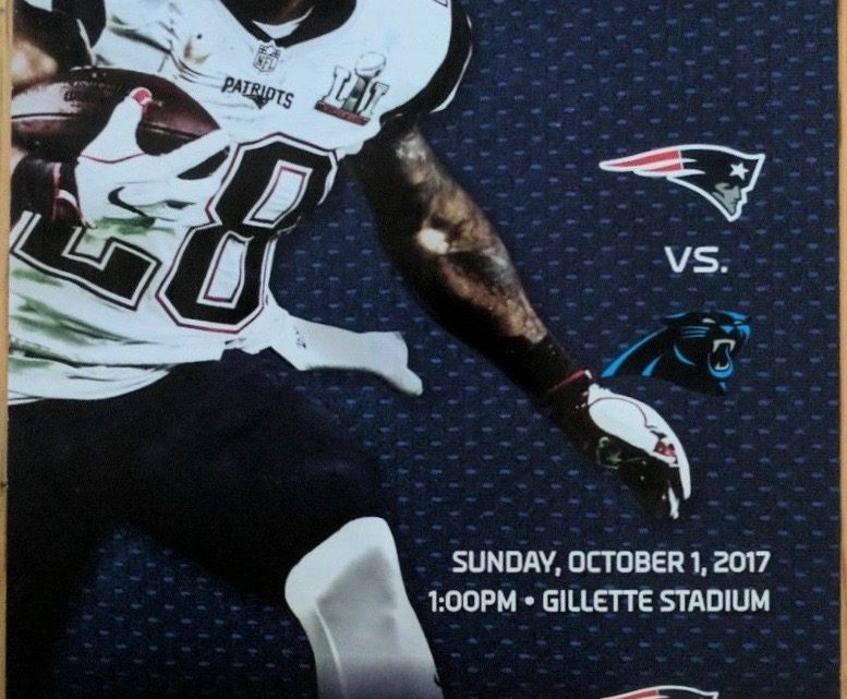2017 NFL Panthers at Patriots ticket stub