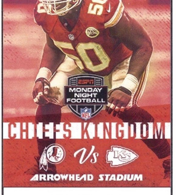 2017 NFL Redskins at Chiefs ticket stub