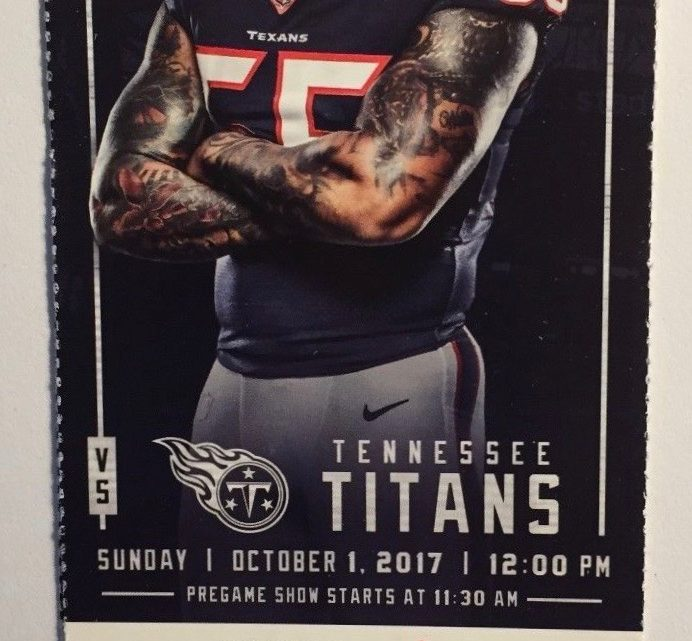 2017 NFL Titans at Texans ticket stub