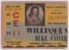 1951 NCAAF William and Mary ticket stub vs Duke