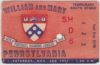1951 NCAAF William and Mary ticket stub vs Penn