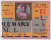 1951 NCAAF William and Mary ticket stub vs VMI