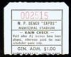1970's West Palm Beach Expos minor league baseball ticket stub