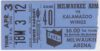 1980 IHL Milwaukee Admirals ticket stub vs Kalamazoo