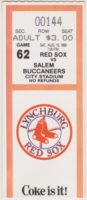 1988 MiLB Carolina League Salem Buccaneers at Lynchburg Red Sox ticket stub