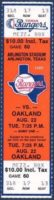 1989 MLB A's at Rangers Nolan Ryan 5000th Strikeout ticket stub