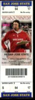 2010 NCAAF San Jose State at Wisconsin ticket stub