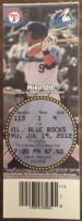 2012 Myrtle Beach Pelicans ticket stub vs Wilmington Blue Rocks