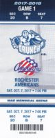 2017 AHL Syracuse Crunch ticket stub vs Rochester