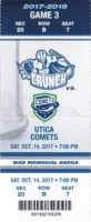 2017 AHL Syracuse Crunch ticket stub vs Utica