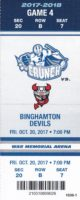 2017 AHL Syracuse Crunch ticket stub vs Binghamton