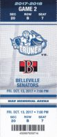 2017 AHL Syracuse Crunch ticket stub vs Belleville