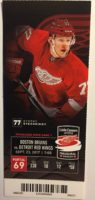 2017 NHL Bruins at Red Wings ticket stub