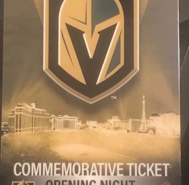 2017 NHL Coyotes at Golden Knights ticket stub