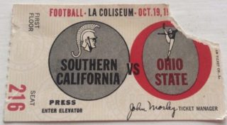 1966 NCAAF Ohio State at USC
