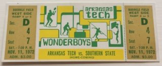 1972 NCAAF Southern State at Arkansas Tech
