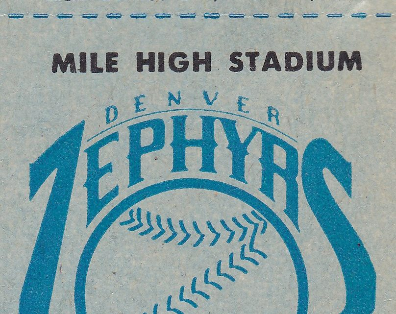 1985 MiLB MLB Cincinnati Reds at Denver Zephyrs