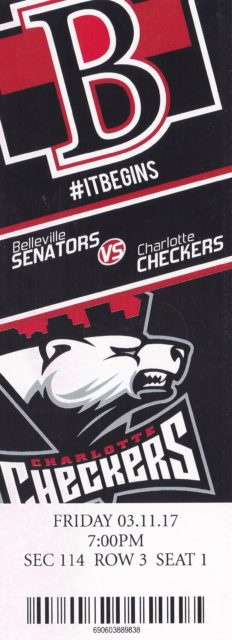 2017-18 Minor League Hockey Ticket Stubs