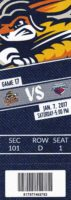 2017 ECHL Swamp Rabbits ticket stub vs Stingrays