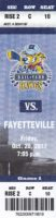 2017 SPHL Roanoke Rail Yard Dawgs ticket stub vs Fayetteville