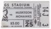 1981 IHL Kalamazoo Wings ticket stub vs Muskegon