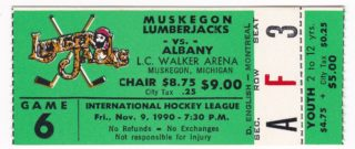 1990 IHL Choppers at Lumberjacks