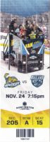 2017 ECHL Toledo Walleye ticket stub vs Worcester Railers