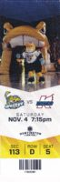 2017 ECHL Toledo Walleye ticket stub vs Kalamazoo