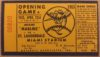 1963 Florida State League Yankees at Marlins ticket stub