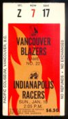 1975 WHA Racers at Blazers
