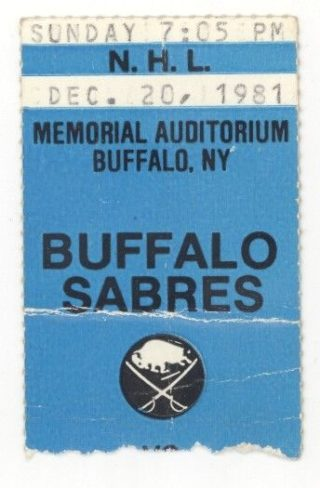 1981 NHL Whalers at Sabres