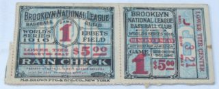 1916 World Series Game 1 Red Sox at Brooklyn Robins