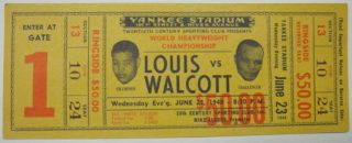 1948 Boxing Louis vs Walcott Yankee Stadium