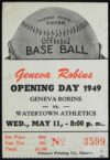 1949 MiLB Watertown Athletics at Geneva Robins
